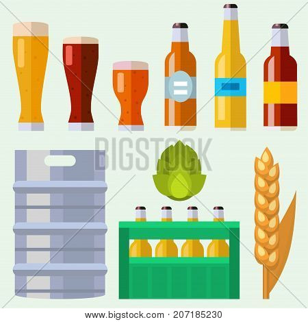 Alcohol beer ale vector transparent glass illustration celebration refreshment brewery icon and party dark vintage beverage mug frosty craft drink. Brewed bubbles symbol oktoberfest dark liquid.