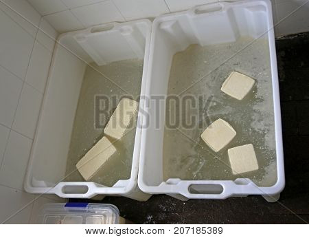 Cheese Prepared In The Dairy Inside A Mountain Hut During  Salti