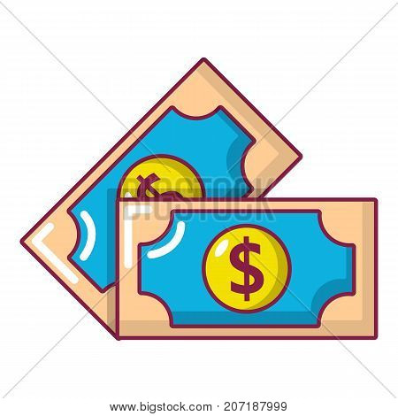 Bank note icon. Cartoon illustration of bank note vector icon for web