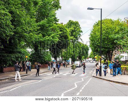 Abbey Road Crossing In London, Hdr