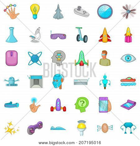 Experiment icons set. Cartoon style of 36 experiment vector icons for web isolated on white background
