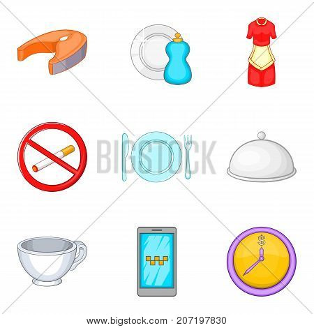 Feast icons set. Cartoon set of 9 feast vector icons for web isolated on white background
