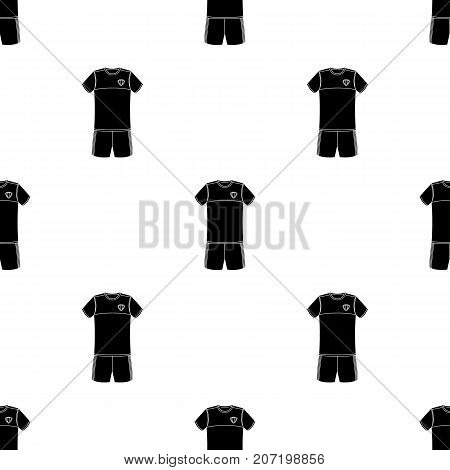 Form of the Belgian football team. Belgium single icon in black style vector symbol stock web illustration.