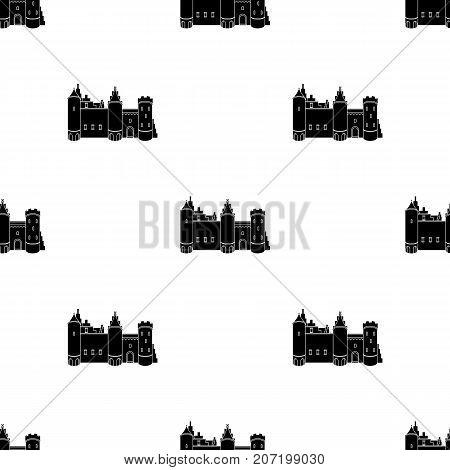 Protective Castle of belgium.The dark Belgian wolf. Belgium single icon in black style vector symbol stock web illustration.