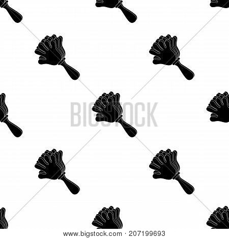 Attribute of the fan in the form of a hand.Fans single icon in black  vector symbol stock illustration.