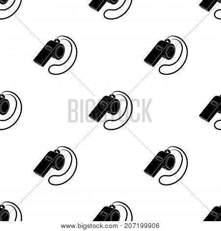 Whistle football fan.Fans single icon in black  vector symbol stock illustration.