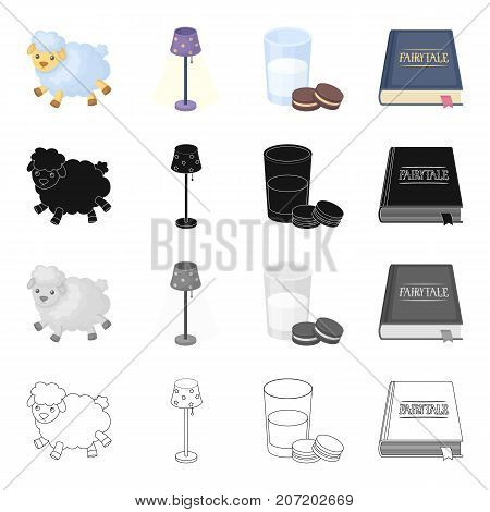 Information, rest, sleep and other  icon in cartoon style.Book, binding, bookmarking icons in set collection.