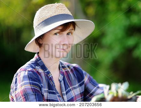 Portrait Of Middle Age/mature Female Gardener