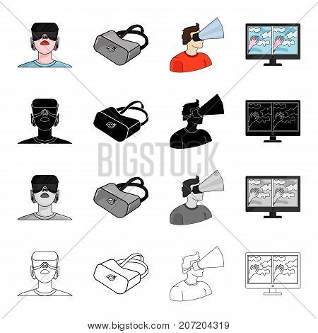 Real, progress, technique and other  icon in cartoon style. Image, technology, virtual, icons in set collection