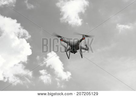 drone technology fly on sky outdoor For aerial photography.