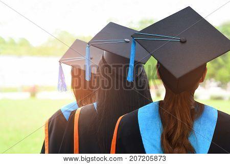 Back Graduates in university degree graduation college