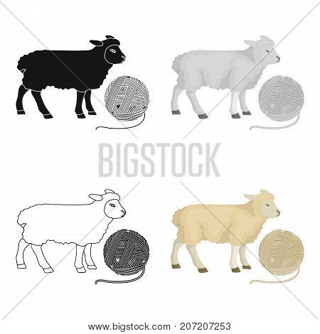 Wool, single icon in cartoon style.Wool vector symbol stock illustration .