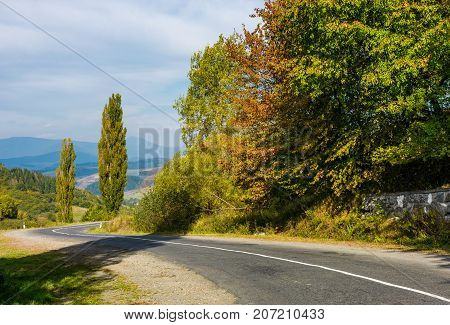 Winding Countryside Road Through Mountains