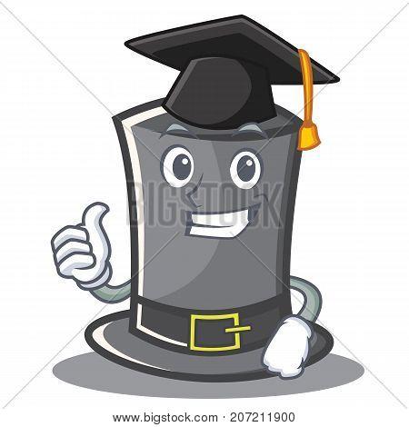 Graduation Thanksgiving hat character cartoon vector illustration