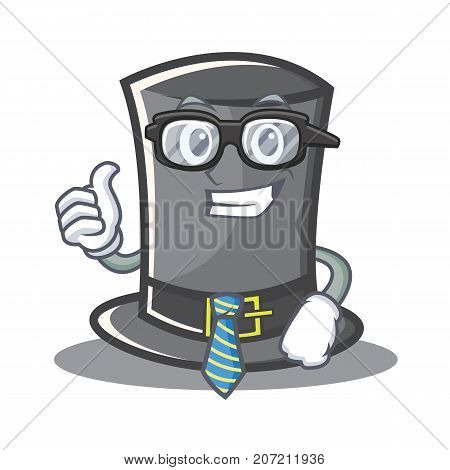 Businessman Thanksgiving hat character cartoon vector illustration