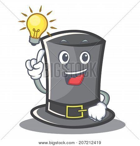 Have an idea Thanksgiving hat character cartoon vector illustration