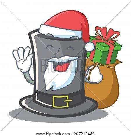Santa Thanksgiving hat character cartoon vector illustration