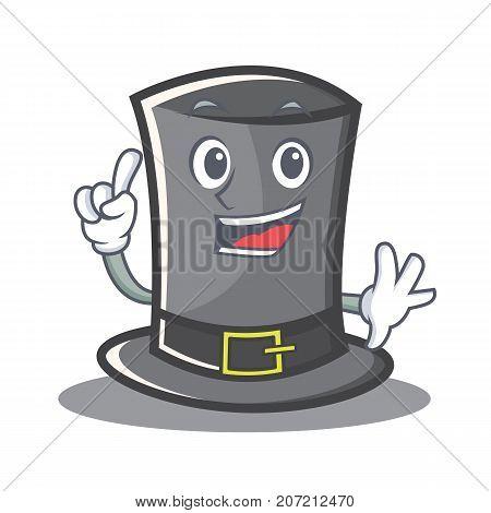 Finger Thanksgiving hat character cartoon vector illustration