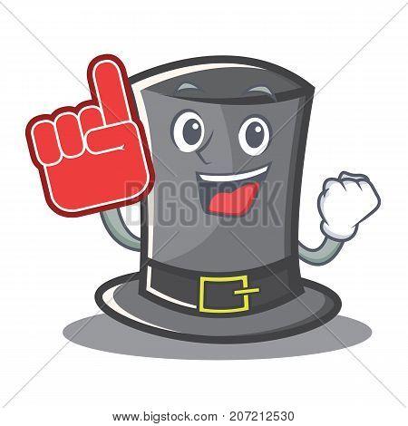 Foam finger Thanksgiving hat character cartoon vector illustration