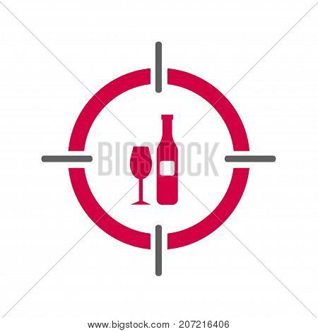 Alcoholics anonymous 12 steps alcoholism logo of doctor psychiatrist. Vector illustration