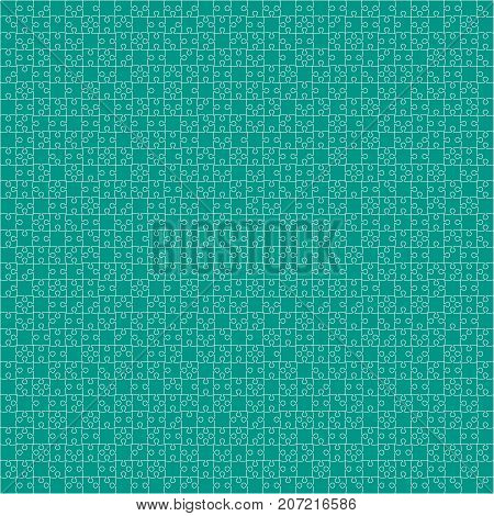 900 Teal Material Design Pieces Arranged in a Square - JigSaw. Jigsaw Puzzle Blank Template.