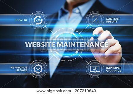 Website maintenance Business Internet Network Technology Concept.