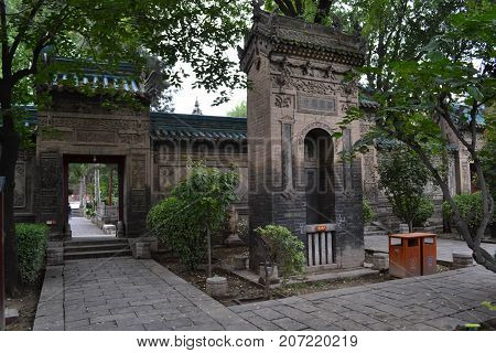 The View Around Xi'an Great Mosque, Considered As One Of The Most Important Place For Chinese Muslim