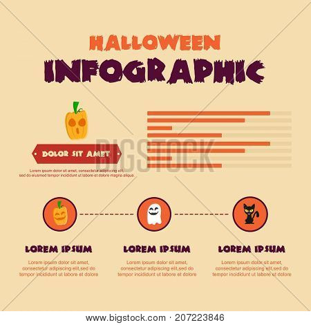 Halloween Infographic vector art illustration collection stock
