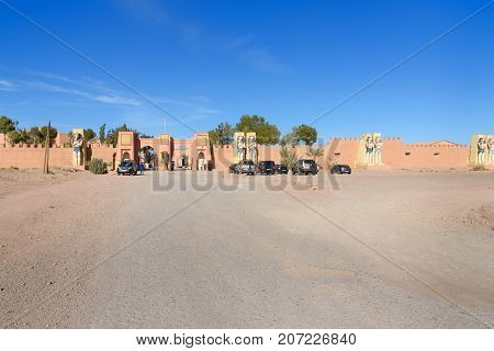 Entrance To Atlas Corporation Studios. Ouarzazate