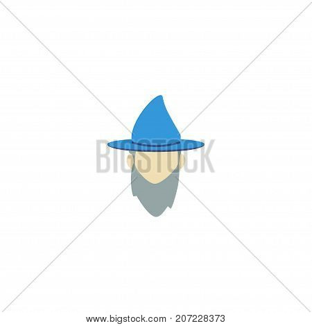 Flat Icon Magician Element. Vector Illustration Of Flat Icon Wizard Isolated On Clean Background