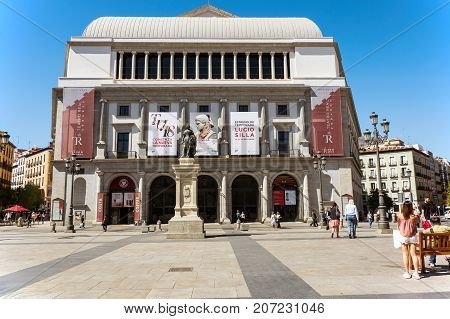 Madrid-September 13: opera theater in Madrid-on September 13 2017 in Madrid Spain