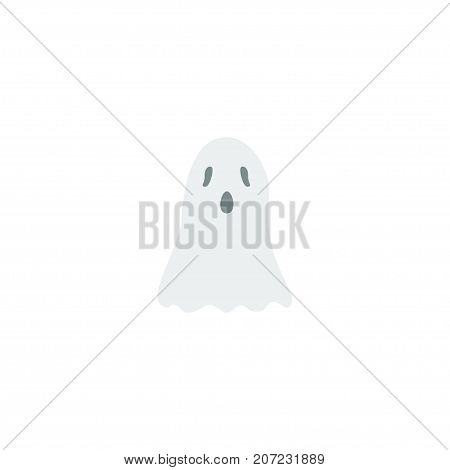 Flat Icon Ghost Element. Vector Illustration Of Flat Icon Halloween Isolated On Clean Background
