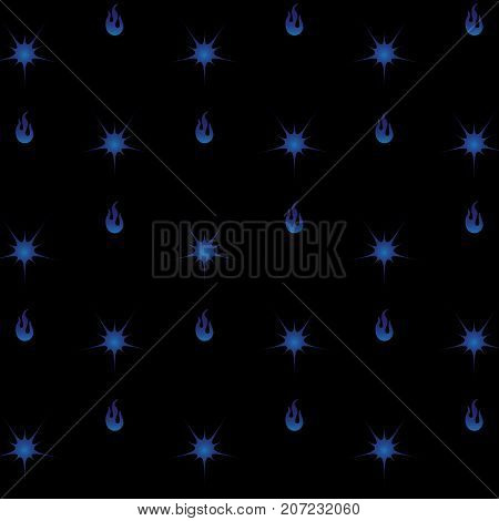Created blue fire and star texture background stock vector