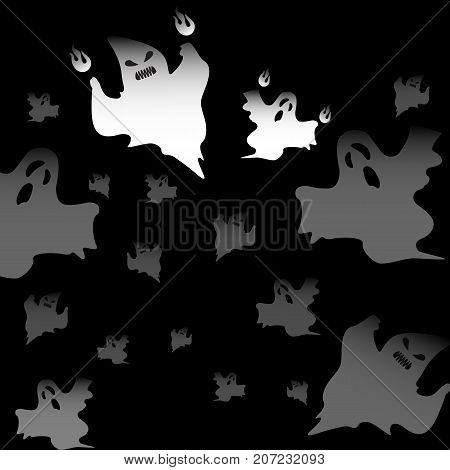 Created Halloween mad ghosts abstract background stock vector