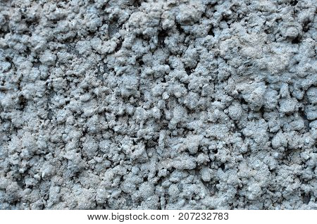 Texture Of Rough Plastered Gray Wall. Grungy Plaster Wall Background.