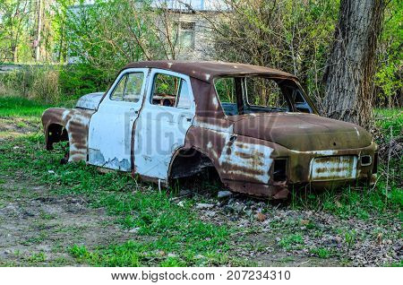 Old Rusty Car Body