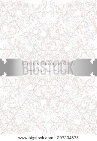 Luxury invitation vector photo free trial bigstock luxury invitation card vector royal victorian pattern ornament rich rococo backgrounds stopboris Gallery