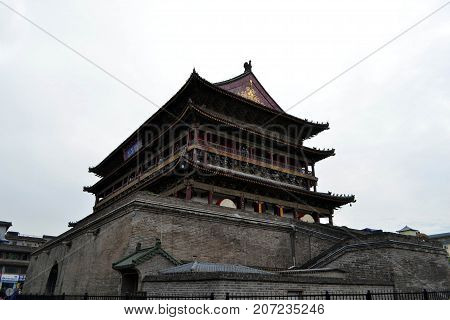 The Traditional Roof Architecture Around Xi'an. Pic Was Taken In September 2017. Translation: