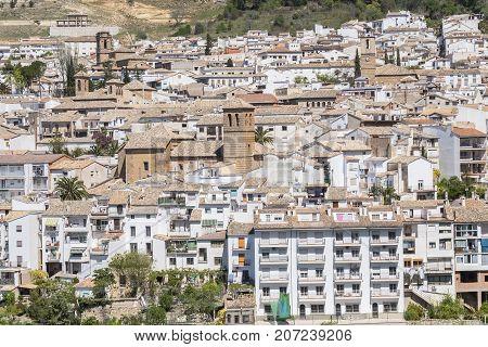 View of Cazorla village in the Sierra de Cazorla Segura and the Villas (Biosphere Reserve) Jaen Spain