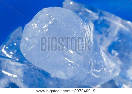 background of cold blue ice . Photo of abstract background