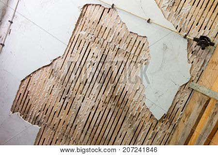 Damaged Ceiling And Wall