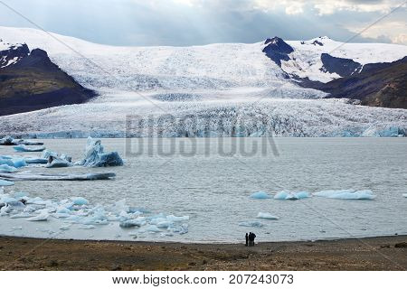 Vatnajokull glacier also known as the Water Glacier is the largest and most voluminous ice cap in Iceland