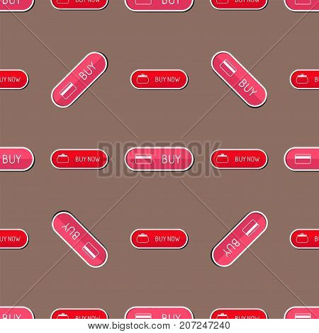 Colorful website online shop web buttons design vector illustration glossy graphic seamless pattern internet confirm. Rounded blank menu reflection business navigation download interface.