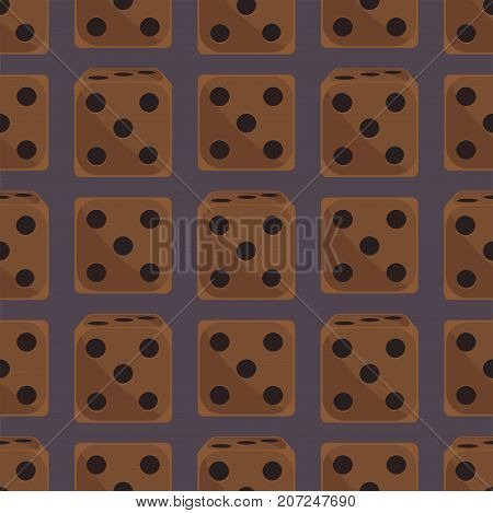 Set of isometric dice number lucky seamless pattern. Game fortune casino variants loss vector illustration. Gamble cube opportunity chance risk tool.
