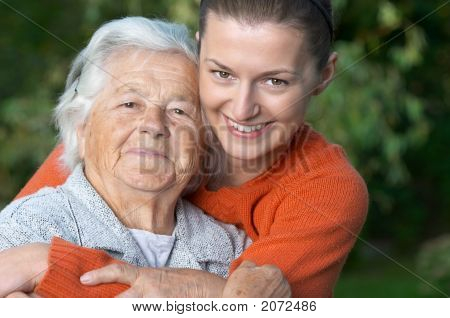 Young Woman And Her Grandmother