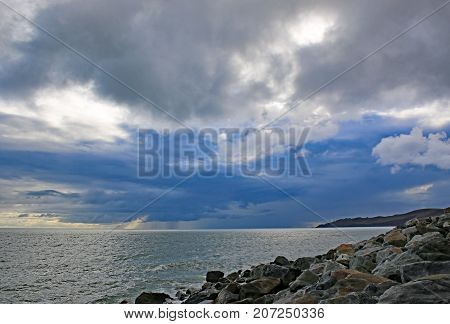 Storm Clouds over Start Bay in Devon