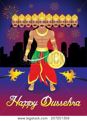 abstract artistic creative dussehra background vector illustration