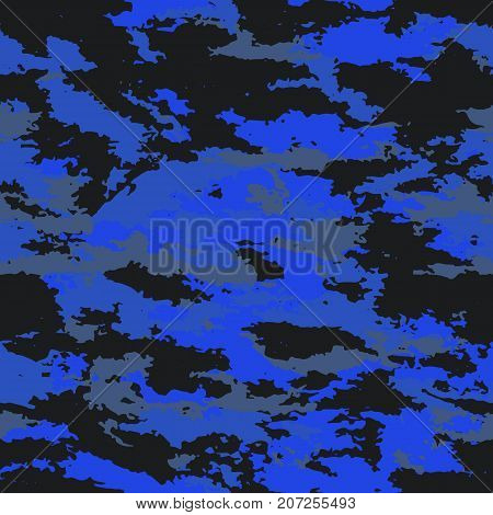 Camouflage military marine background. Camouflage background - vector illustration. Abstract seamless pattern