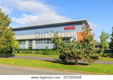 Northampton Uk October 3, 2017: Winvic Logo Sign Northampton Industrial Estate