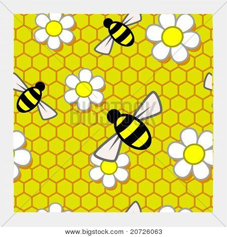 Honey Pattern Repeat